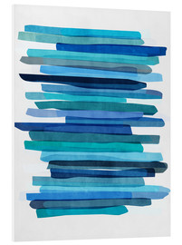 Forex  Blue Stripes 1 - Mareike Böhmer Graphics