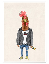 Poster Premium  Punk Rooster - Barruf