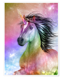 Poster  Unicorn - Be authentic - Dolphins DreamDesign