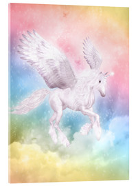 Vetro acrilico  Unicorn Pegasus - Big Dreams - Dolphins DreamDesign