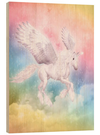 Stampa su legno  Unicorn Pegasus - Big Dreams - Dolphins DreamDesign