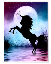 Poster Premium  Unicorn Magic - Dolphins DreamDesign