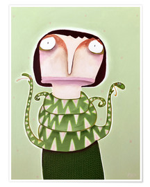Poster Merle Wysocki with her spitting cobras