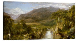 Stampa su tela  Heart of the Andes - Frederic Edwin Church