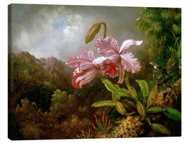 Stampa su tela  Orchids in a Jungle - Martin Johnson Heade