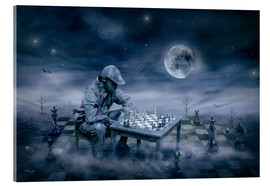 Stampa su vetro acrilico  A boy is playing Chess - teddynash