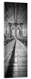 Vetro acrilico  NEW YORK CITY Brooklyn Bridge Panorama - Melanie Viola