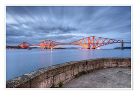 Poster  Edinburgh Forth Bridge - Michael Valjak