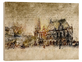Stampa su legno  Bremen market marketplace modern and abstract - Michael artefacti