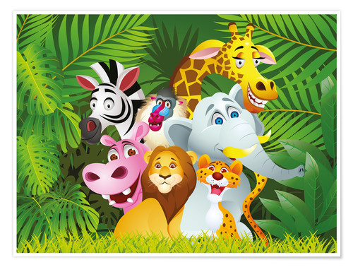 Poster Premium My jungle animals