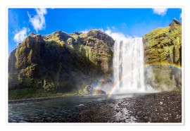 Poster Premium Skogafoss waterfall in south of Iceland