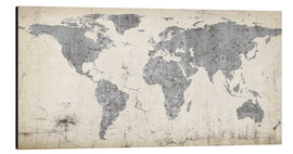 Alluminio Dibond  Vintage world map