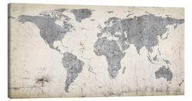 Tela  Vintage world map