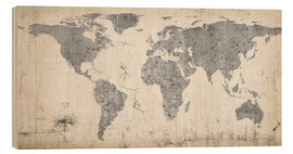 Legno  Vintage world map