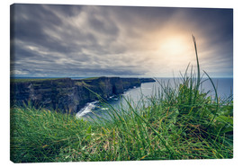 Stampa su tela  View over the cliffs of Moher, Ireland