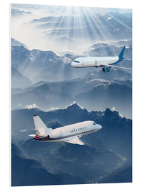 Forex  Two aircrafts over the mountains