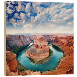 Stampa su legno  Colorado canyon view
