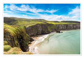 Poster Premium  Carrick-a-Rede, Coast of Northern Ireland