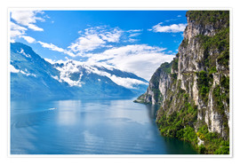 Poster Premium Summer view over of lake Garda in Italy