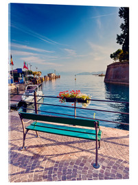 Vetro acrilico  Bench on the coast of Garda in Peschiera