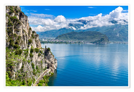 Poster Premium  Summer view over Lake Garda