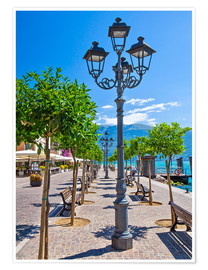 Poster Premium Village of Gargnano, Lake Garda Italy
