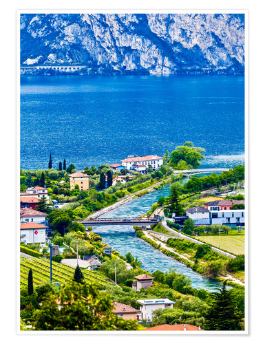 Poster Premium View of Lake Garda in Northern Italy