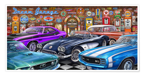 Poster Premium Dream Garage II