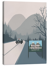 Stampa su tela  Alternative welcome to Twin Peaks - 2ToastDesign