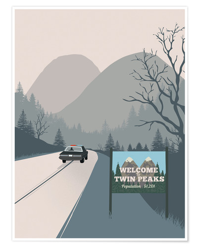 Poster Premium Alternative welcome to Twin Peaks