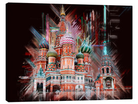 Stampa su tela  Moscow Basilica Cathedral - Peter Roder