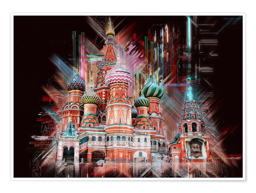 Poster Premium Moscow Basilica Cathedral