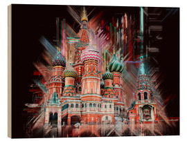 Stampa su legno  Moscow Basilica Cathedral - Peter Roder