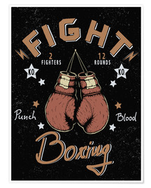 Poster Premium boxing match