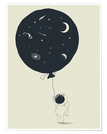 Poster Premium  Space balloon - Kidz Collection