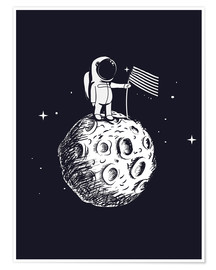 Poster Premium The first man on the moon