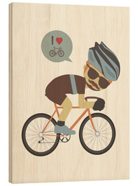 Stampa su legno  I love cycling - Kidz Collection