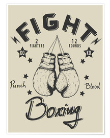 Poster Premium  Fight - Boxing