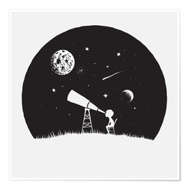 Poster Premium  Looking into the stars - Kidz Collection