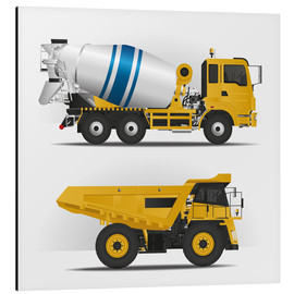 Alluminio Dibond  Construction sites vehicles - Kidz Collection
