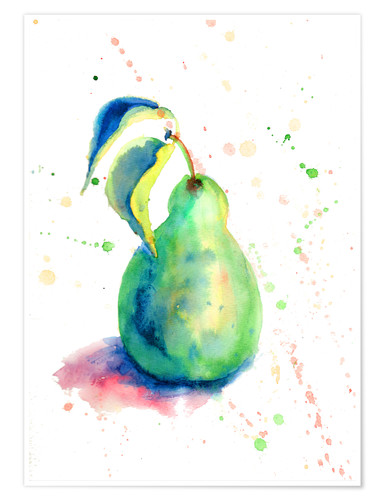 Poster Premium Sweet pear watercolor