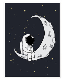 Poster Premium  Ometto sulla luna - Kidz Collection