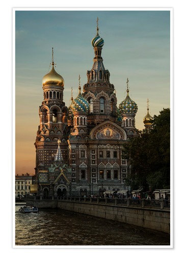Poster Premium Cathedral of the Savior in Sankt Petersburg