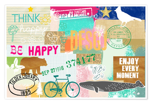 Poster Premium Enjoy every Moment Collage