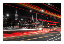 Poster Premium New York City view with Empire State Building