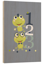 Legno  Frogs playing with numbers - Jaysanstudio