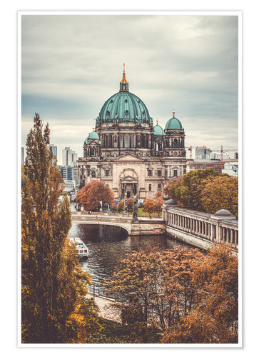 Poster Premium Berlin Cathedral in autumn