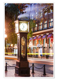 Poster Premium Steam clock in Gastown, Vancouver, Canada