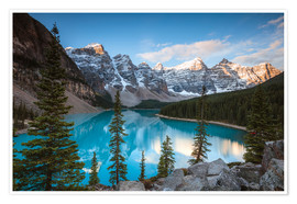 Poster Premium Sunset over lake Moraine, Banff, Canada