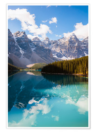 Poster Premium Lake Moraine in the Canadian Rockies
